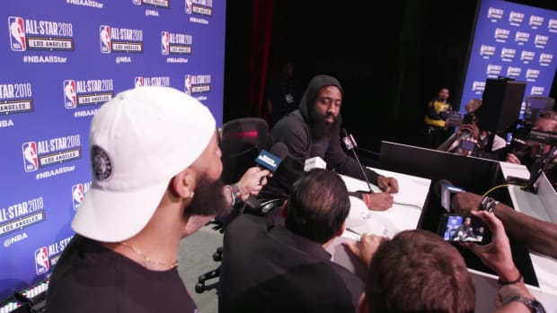 James Harden on the All-Star Game in LA and Beards at All-Star Media Day - IMAGE