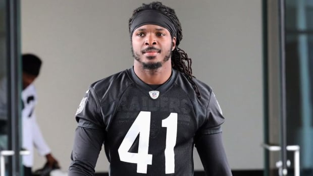 Former Raiders LB Neiron Ball in Medically-Induced Coma--IMAGE