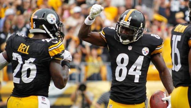 Steelers WR Antonio Brown Supports Le'Veon Bell: 'We Want the Best For Him' - IMAGE