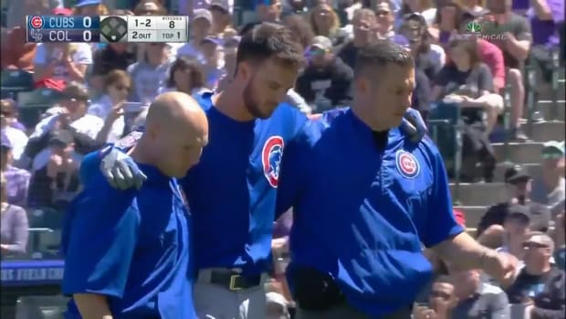 Cubs' Kris Bryant Leaves Game After Being Hit By Pitch - IMAGE