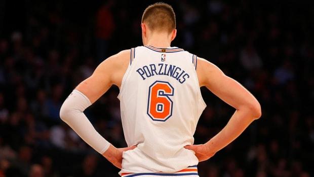 Knicks All-Star Kristaps Porzingis Tears ACL vs. Bucks, Out for Season - IMAGE