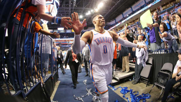 Russell Westbrook Averages Triple-Double For Second-Straight Season--IMAGE