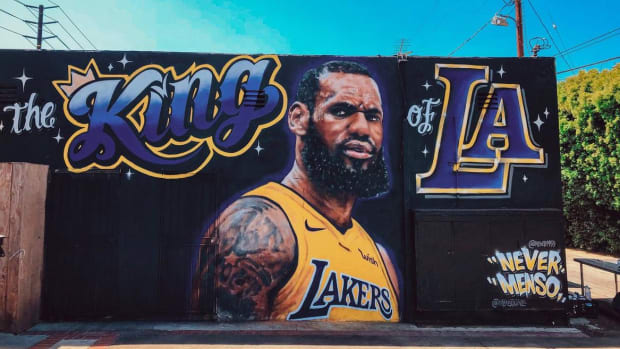 LeBron James Mural Vandalized in Los Angeles--IMAGE