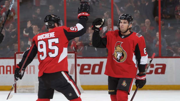 Ottawa Senators Caught on Camera Knocking Coaches--IMAGE