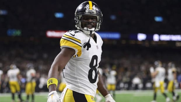 Report: Steelers' Antonio Brown Missed Sunday's Game After Dispute With Teammate--IMAGE