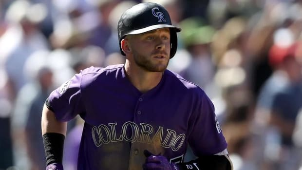 Rockies' Trevor Story May Have UCL Damage in Elbow--IMAGE
