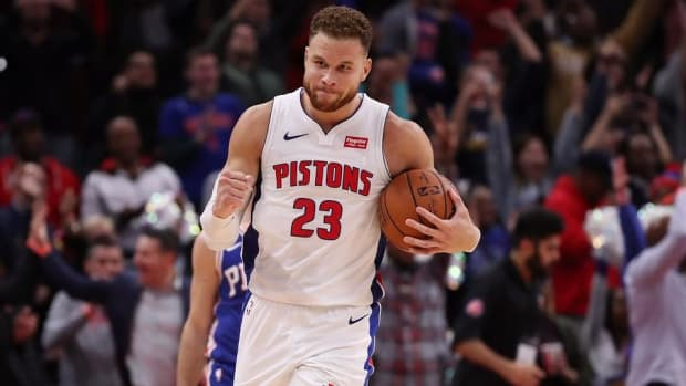 Pistons' Blake Griffin Scores 50 in Detroit's OT Win vs. Sixers--IMAGE