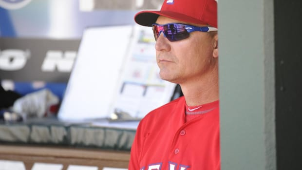 Texas Rangers Fire Manager Jeff Banister--IMAGE