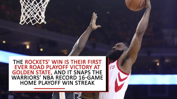 Rockets Snap Warriors' 16-Game Home Playoff Win Streak With Game Four Win - IMAGE