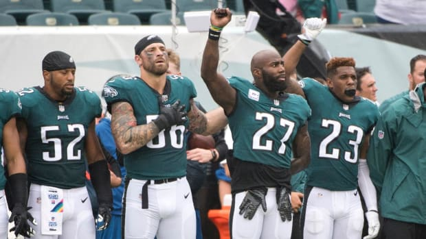 Eagles Teammates Malcolm Jenkins and Chris Long Release Statements On Revised Anthem Policy - IMAGE