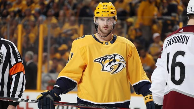 Predators' Austin Watson Suspended 27 Games for 'Unacceptable Off-Ice Conduct'--IMAGE