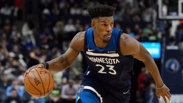 Jimmy Butler Practices With Timberwolves, Has Heated Exchange With GM, Teammates--IMAGE