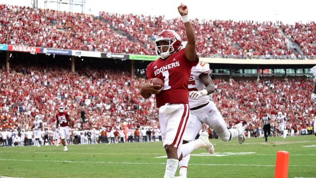 Murray, Grier Highlight Battle of Big 12 Foes as Oklahoma and West Virginia Eye Conference Title Game
