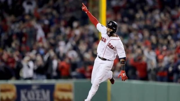 Eduardo Nunez Powers Red Sox Past Dodgers in Game 1 of World Series--IMAGE