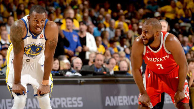 Warriors Forward Andre Iguodala Doubtful for Game 4 With Knee Soreness--IMAGE