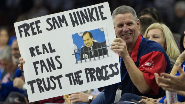 Image result for trust the process sixers fan signs