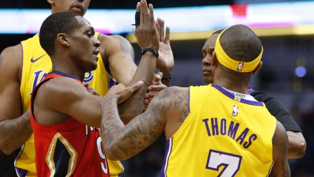 Rajon Rondo, Isaiah Thomas Ejected After Spat Over Tribute Video--IMAGE