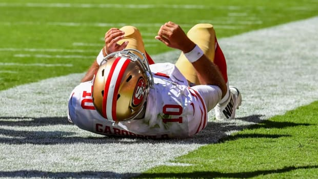 49ers Quarterback Jimmy Garoppolo Done for the Season After Tearing ACL--IMAGE