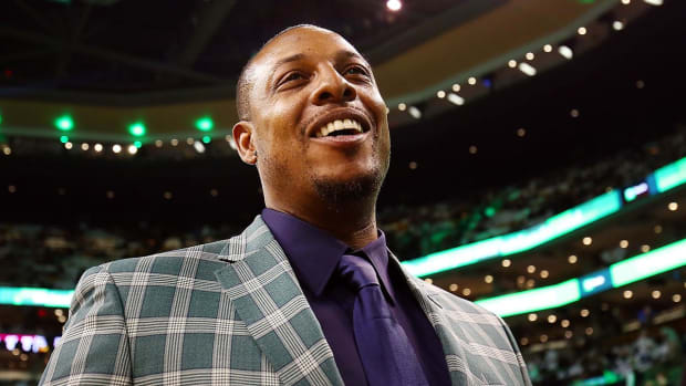 Boston Celtics Retire Paul Pierce's Number 34--IMAGE