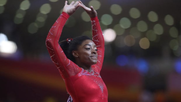 Simone Biles Becomes First American to Medal in Every Event at Worlds - IMAGE