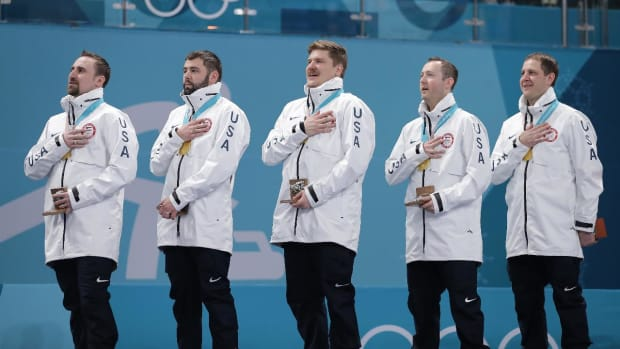 U.S. Men's Curling Wins First Olympic Gold--IMAGE