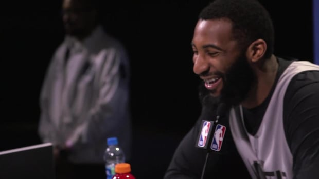Nate Robinson and Andre Drummond Discuss Nicknames at NBA All-Star Media Day - IMAGE