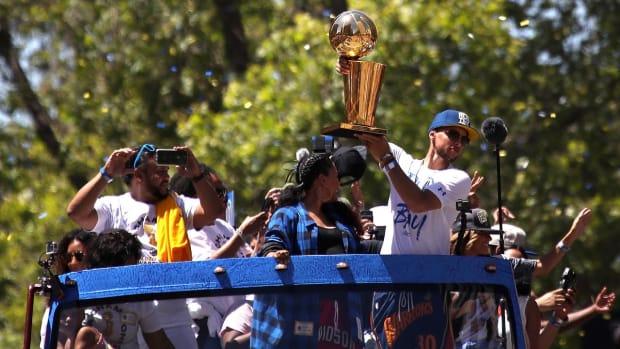 Warriors Celebrate NBA Championship With Parade Through Oakland  - IMAGE