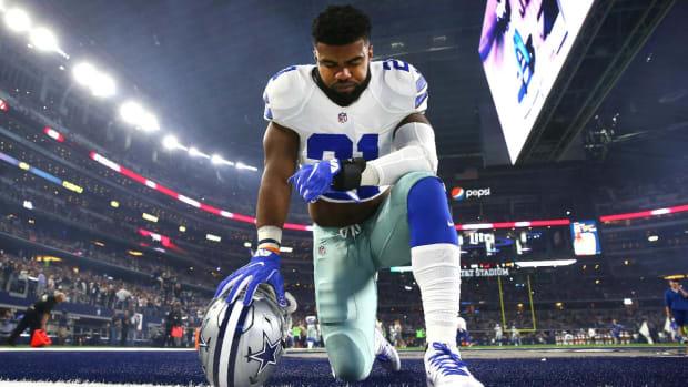 Cowboys' Ezekiel Elliott Thanks Jerry Jones For His Support--IMAGE