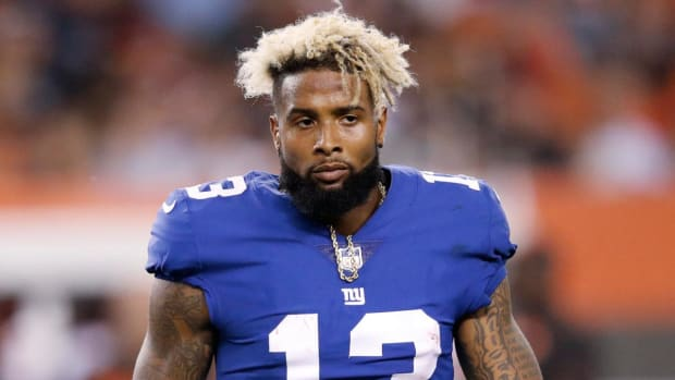 Odell Beckham Jr. reports for Giants' offseason conditioning