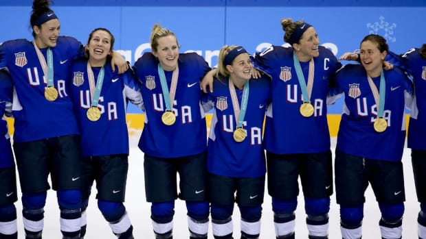 USA Wins First Olympic Hockey Gold Medal in 20 Years--IMAGE