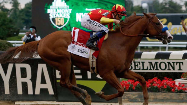 Justify Wins Triple Crown, Dominates Field at Belmont--IMAGE
