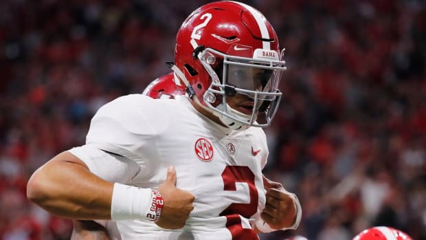 Jalen Hurts Saves The Day for Alabama--IMAGE
