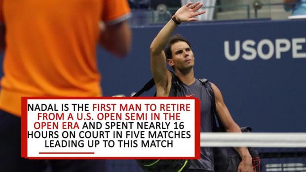 Juan Martin del Potro Advances to U.S. Open Final After Nadal Retires  - IMAGE