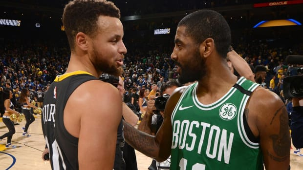 Warriors Defeat Celtics 109-105, Steph Curry and Kyrie Irving Put on a Show--IMAGE