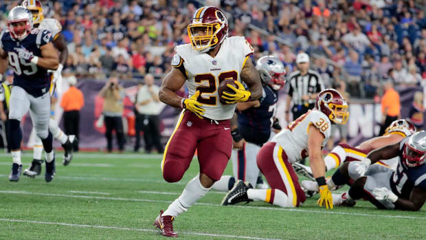 Redskins Running Back Derrius Guice Tore ACL in Preseason Opener - IMAGE