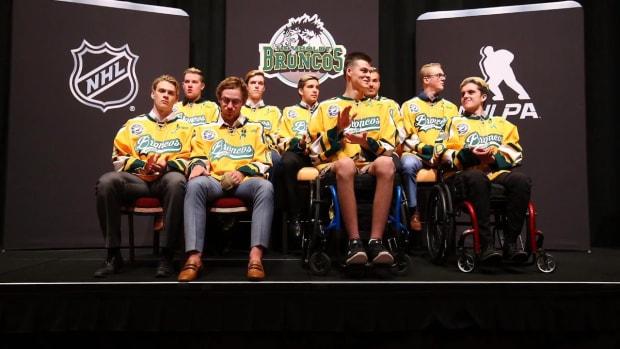 Surviving Humboldt Broncos Players Reunited Before NHL Awards - IMAGE