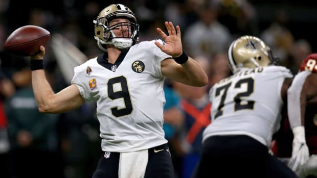 Drew Brees Becomes NFL's All-Time Leader in Passing Yards--IMAGE