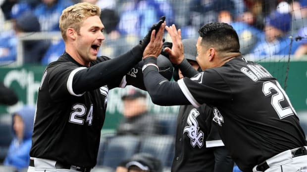 White Sox DH Matt Davidson Belts Three Home Runs on Opening Day--IMAGE