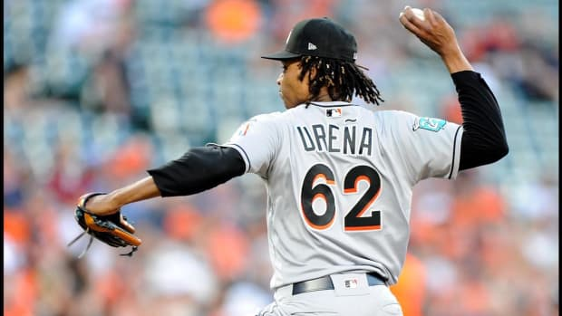 Marlins' Jose Urena Suspended Six Games for Throwing at Braves' Acuna Jr.--IMAGE