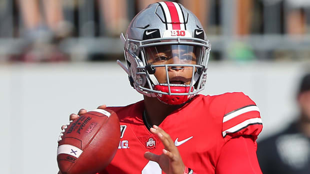 Justin Fields has Ohio State in line to reach the College Football Playoff.