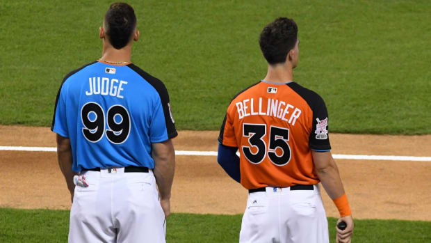 Aaron Judge, Cody Bellinger Win Rookie of the Year Awards--IMAGE