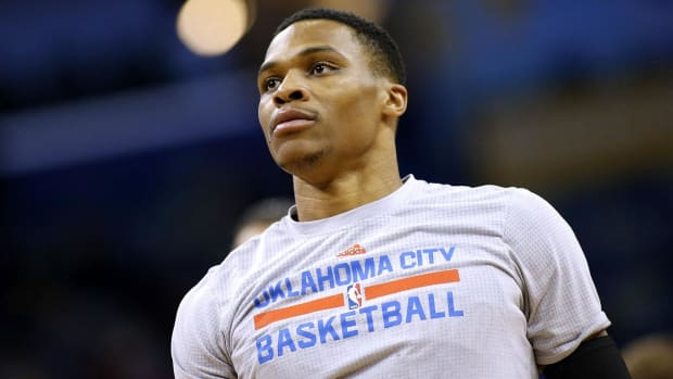 Westbrook responds to Curry's MVP nod to Harden: Who's he?--IMAGE