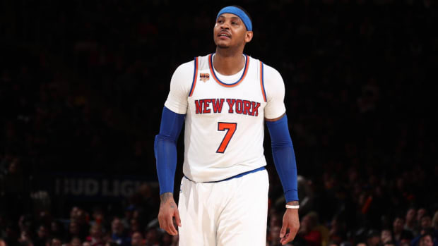 Report: Knicks approached Cavaliers about Carmelo Anthony-Kevin Love trade - IMAGE