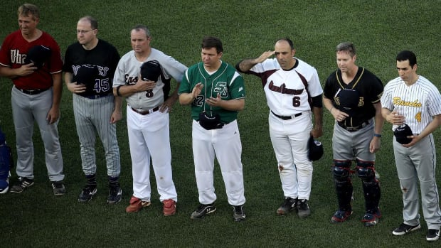 Baseball game brings politicians together in wake of tragedy--IMAGE
