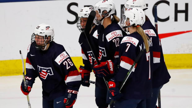Team USA hockey blanks Germany 11-0, heads to gold-medal game IMAGE
