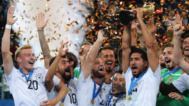 Germany wins Confederations Cup with 1–0 victory over Chile IMAGE