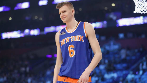 Knicks Forward Kristaps Porzingis Says He Wants to Stay With Team for Entire Career  - IMAGE