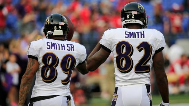 Steve Smith Sr. broke the news that Torrey Smith was being cut - IMAGE