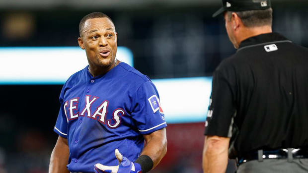 Adrian Beltre Ejected For Moving On-Deck Circle--IMAGE