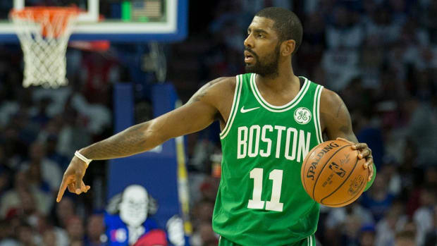 Kyrie Irving Fined $25,000 for Yelling At Heckling 76ers Fan - IMAGE